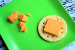 Cheddar Cheese with Tomato slice Royalty Free Stock Photos