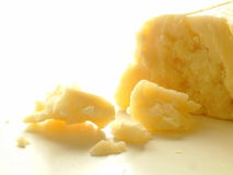 Cheddar cheese on white background Stock Photography