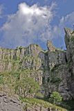 Cheddar Gorge. The Sides of the Gorge at Cheddar in Somerset, England stock images