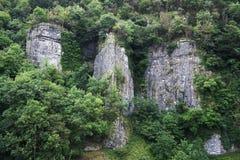 Cheddar gorge cliffs Royalty Free Stock Photos