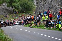 Ovo Energy Tour of Britain Stage Three. Cheddar Gorge, England Stock Photos