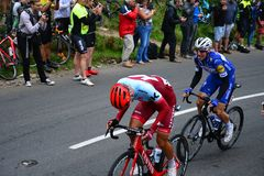 Ovo Energy Tour of Britain Stage Three. Cheddar Gorge, England Stock Image