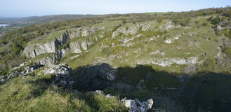 Cheddar Gorge. Panorama viewed from Cheddar Cliffs Stock Images