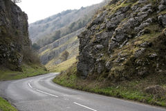 Cheddar gorge road somerset england Stock Images