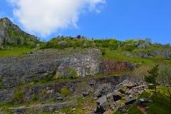 Cheddar Gorge rockfall Stock Photo