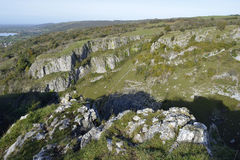 Cheddar Gorge. Viewed from Cheddar Cliffs Stock Images