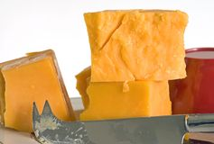 Cheddar Plate Royalty Free Stock Images