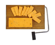 Cheddar Salami Cheese On Cutting Board Royalty Free Stock Image