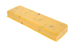 Cheddar salami cheese Royalty Free Stock Images