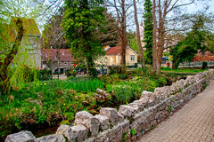 Cheddar village, Somerset, UK. Cheddar is a parish in Somerset known throughout the world as the origin of Cheddar Cheese Royalty Free Stock Photos