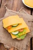 Cheddarkäse-Sandwich Lizenzfreies Stockbild