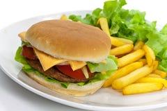 cheddaru hamburgeru sałaty pomidor Obrazy Royalty Free