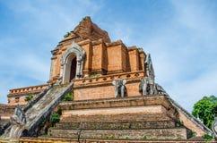 Chedi antico Luang. Fotografie Stock Libere da Diritti