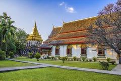 Chedi Chang Lom at Wat Chiang Man, Chiang Mai, Thailand royalty free stock images