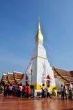 Chedi de Phra qui temple de copain de Choeng pour les personnes thaïlandaises et le voyage Photos libres de droits