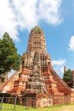Chedi de Wat Chaiwatthanaram Photographie stock