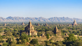 Chedi Field in Bagan stock photography