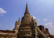 Chedi impressionante a Ayuthaya, Tailandia Fotografia Stock