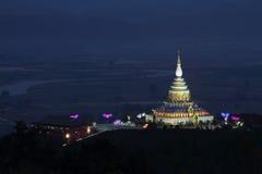 Chedi Kaew塔, Wat Thaton 库存图片