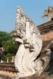 Chedi Luang塔细节在清迈,泰国 免版税图库摄影