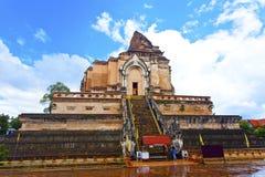 Chedi-luang Tempel in Chiang Mai, Thailand. stockbild