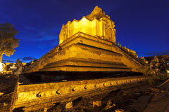 Chedi luang temple Royalty Free Stock Images