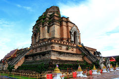 Chedi Luang temple Royalty Free Stock Photography