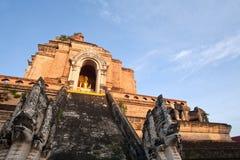 Chedi Luang temple. Big Pagoda at Chedi Luang temple, Chiang Mai, Thailand Royalty Free Stock Images