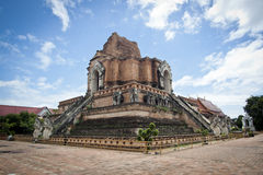 Chedi luang temple in chiang mai Royalty Free Stock Images