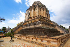 Chedi luang temple Royalty Free Stock Photo