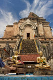 Chedi luang temple in chiang mai Stock Images