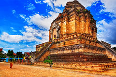 Chedi luang temple in chiang mai Stock Image