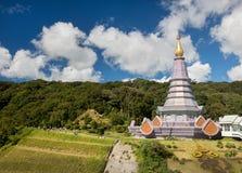 Chedi near the summit of mount Doi Inthanon Stock Photos