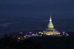 Chedi Pagoda Kaew, Wat Thaton Obraz Stock