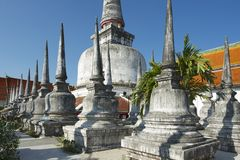 Chedi Phra Baromathat dans Nakhon Sri Thammarat, Thaïlande Image stock
