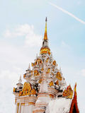 Chedi Phra That Chaiya Royalty Free Stock Photos