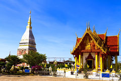 Chedi Phra That Renu with architecture Royalty Free Stock Image