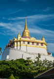 Chedi Phukao thong. Is Buddhidt tower in Thailand Stock Images