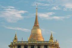 Chedi Phukhao皮带,曼谷,泰国 库存图片