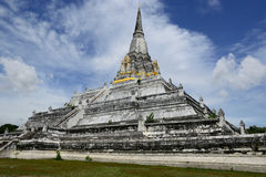 Chedi Phukhao Thong is in Ayutthaya ,Thailand Stock Photography