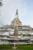 Chedi PhukhaoThong på Wat Phu Khao Thong av Ayutthaya Thailand Arkivbild