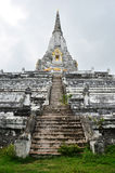 Chedi PhukhaoThong at Wat Phu Khao Thong of Ayutthaya Thailand royalty free stock images