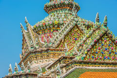 Chedi rooftop detail grand palace Stock Photos