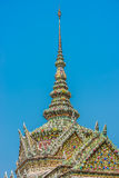 Chedi rooftop detail grand palace bangkok Thailand Stock Photography