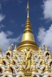 Chedi Samphutthe κοντά σε Wat Mani Phraison, μέθυσος της Mae, Tak, Ταϊλάνδη στοκ εικόνες