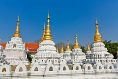 Chedi Sao temple Lampang, Thailand.  Royalty Free Stock Photography