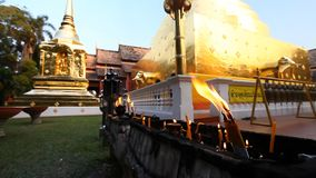 Buddhism.Buddhist temple. Golden stupa in the temple Wat Phra Singh .Chang Mai,Northern Thailand stock video footage