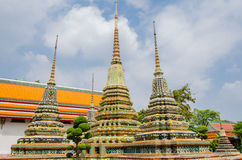 Chedi with twenty indented-corners Stock Photos