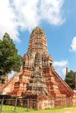 Chedi van Wat Chaiwatthanaram Stock Fotografie