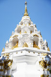 Chedi von Wat Klong Wiang Temple in Chiang Rai, Thailand Stockbild